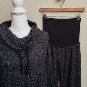 MM Charcoal Hacci Knit Loungewear Set